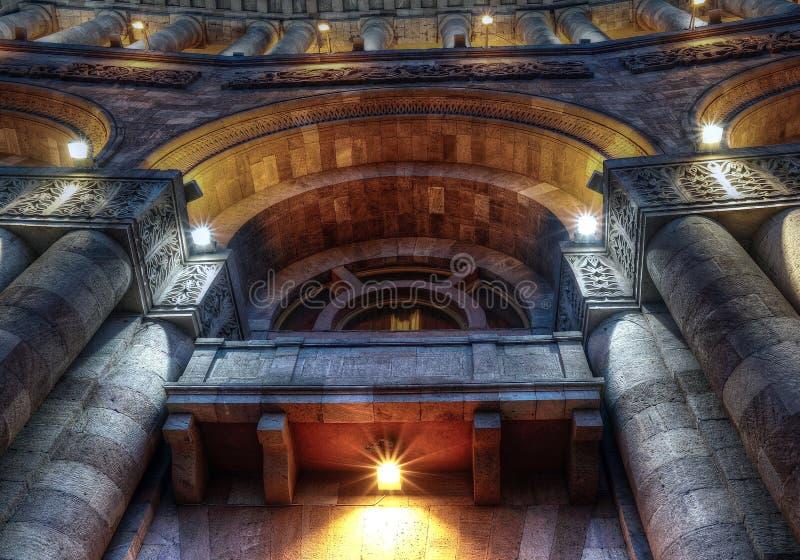 ¡Arquitectura hermosa de Ereván, Armenia! foto de archivo libre de regalías