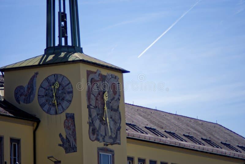 Arquitectura hermosa de la ciudad de Ansbach fotografía de archivo