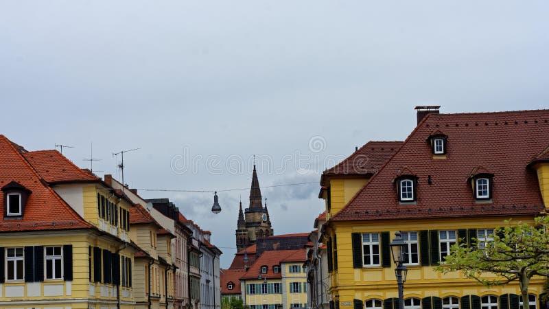 Arquitectura hermosa de la ciudad de Ansbach fotografía de archivo libre de regalías
