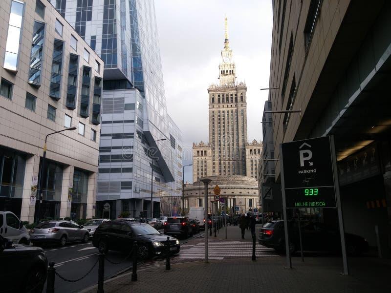 Arquitectura hermosa de Varsovia fotos de archivo