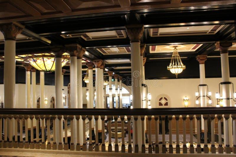 Arquitectura hermosa dentro del hotel histórico, el Driskill, Austin céntrico, Tejas, 2018 imagenes de archivo