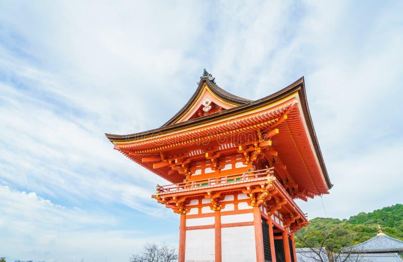Arquitectura hermosa en el templo Kyoto, Japón de Kiyomizu-dera fotografía de archivo