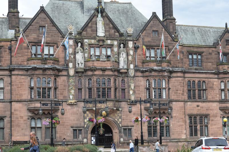 Arquitectura histórica de Leicester foto de archivo