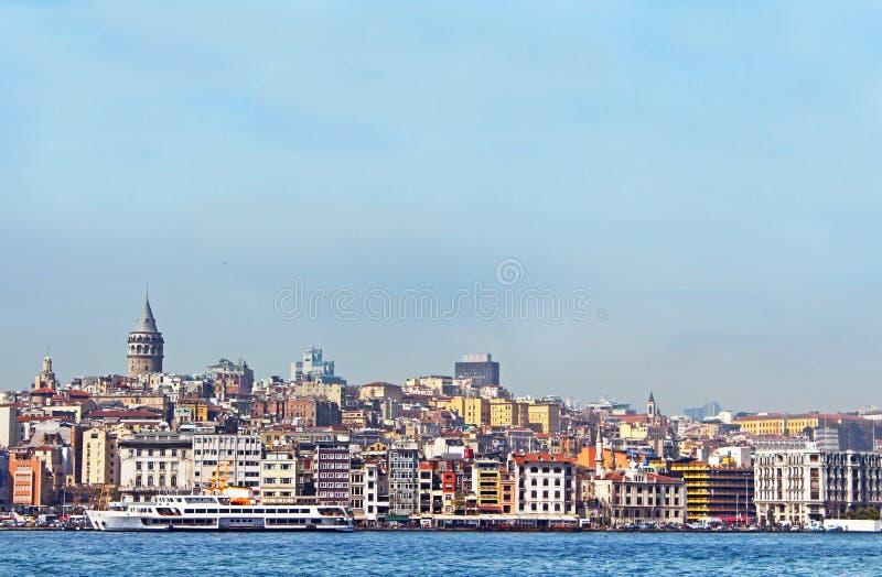 Arquitectura histórica del distrito de Beyoglu imagenes de archivo