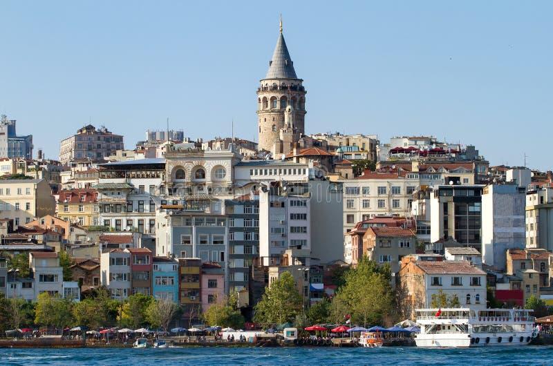 Arquitectura histórica del distrito de Beyoglu fotografía de archivo