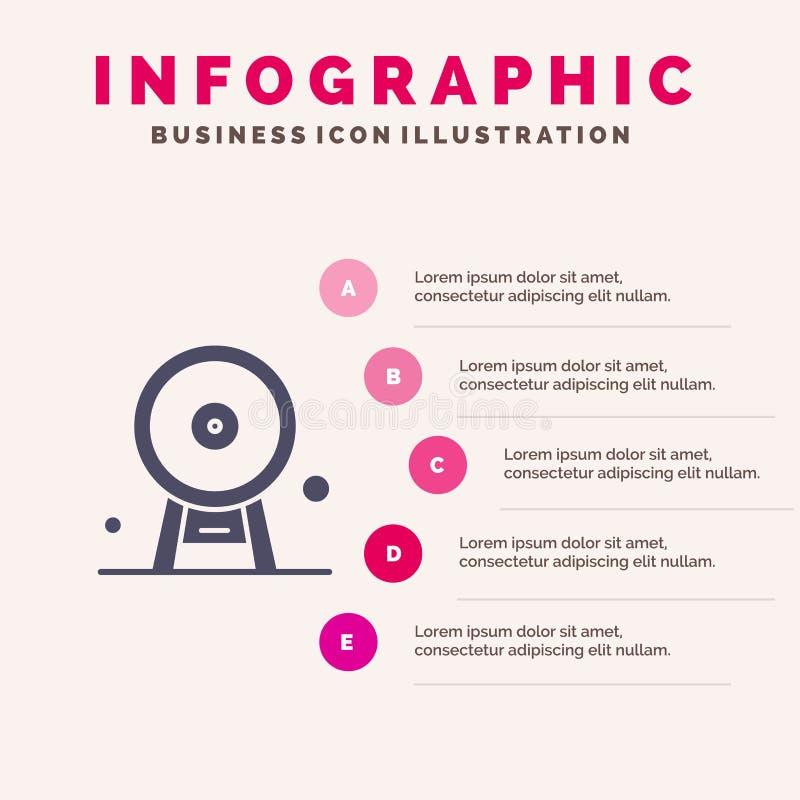 Arquitectura, Inglaterra, Ferris Wheel, señal, London Eye, fondo sólido de la presentación de los pasos de Infographics 5 del ico libre illustration