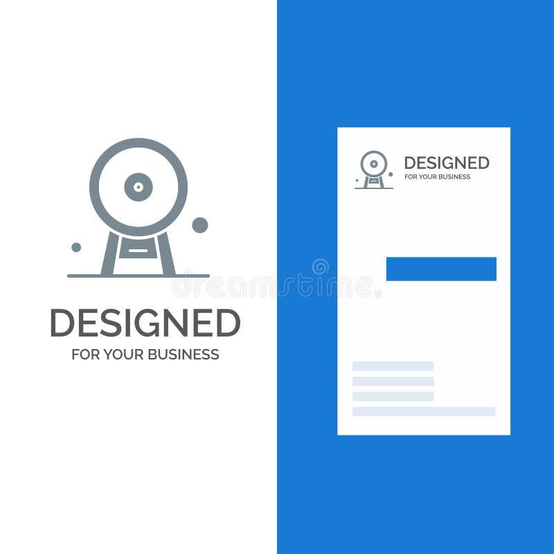 Arquitectura, Inglaterra, Ferris Wheel, señal, London Eye, Grey Logo Design y plantilla de la tarjeta de visita stock de ilustración