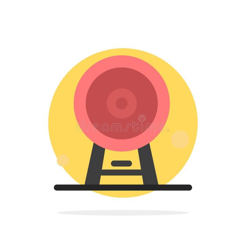 Arquitectura, Inglaterra, Ferris Wheel, señal, London Eye, icono plano del color de fondo abstracto del círculo stock de ilustración