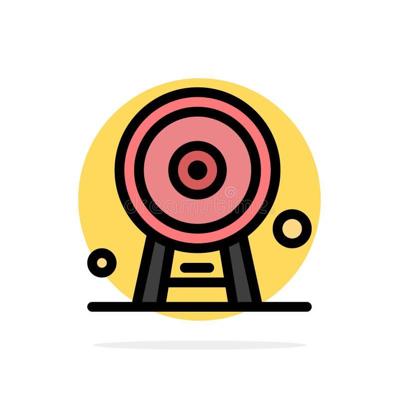 Arquitectura, Inglaterra, Ferris Wheel, señal, London Eye, icono plano del color de fondo abstracto del círculo libre illustration