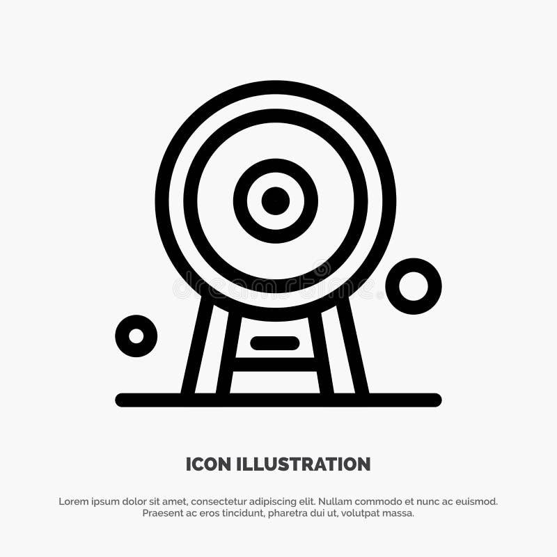 Arquitectura, Inglaterra, Ferris Wheel, señal, London Eye, línea vector del icono stock de ilustración