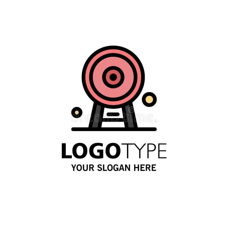 Arquitectura, Inglaterra, Ferris Wheel, señal, London Eye, negocio Logo Template color plano ilustración del vector