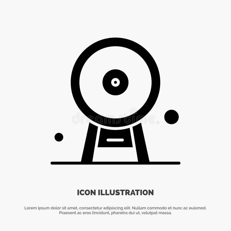 Arquitectura, Inglaterra, Ferris Wheel, señal, London Eye, vector sólido del icono del Glyph ilustración del vector