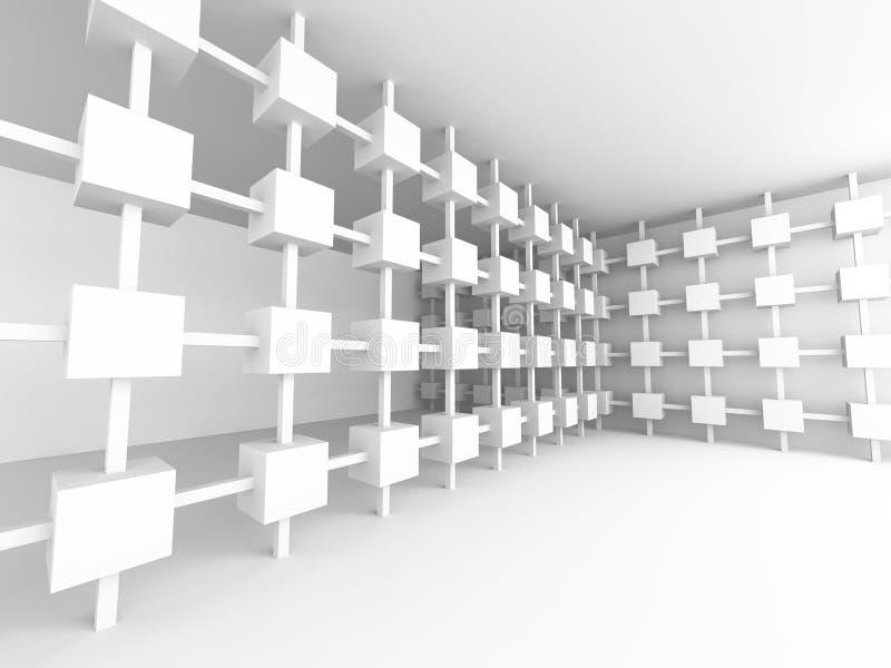 Arquitectura interior vac a backgroun del dise o futurista abstracto stock de ilustraci n Diseno interior futurista