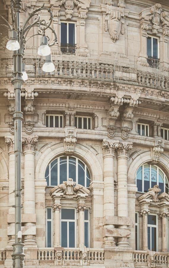 Arquitectura italiana tradicional en Génova Italia fotografía de archivo libre de regalías