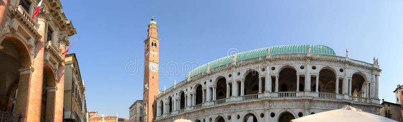 Arquitectura medieval de Vicenza, Italia imagenes de archivo