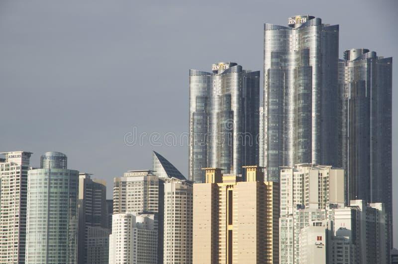 Arquitectura moderna Busán Corea imagen de archivo