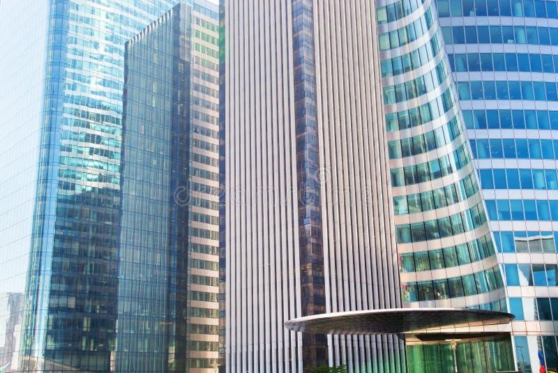 Arquitectura moderna de los rascacielos del negocio imagen de archivo libre de regalías