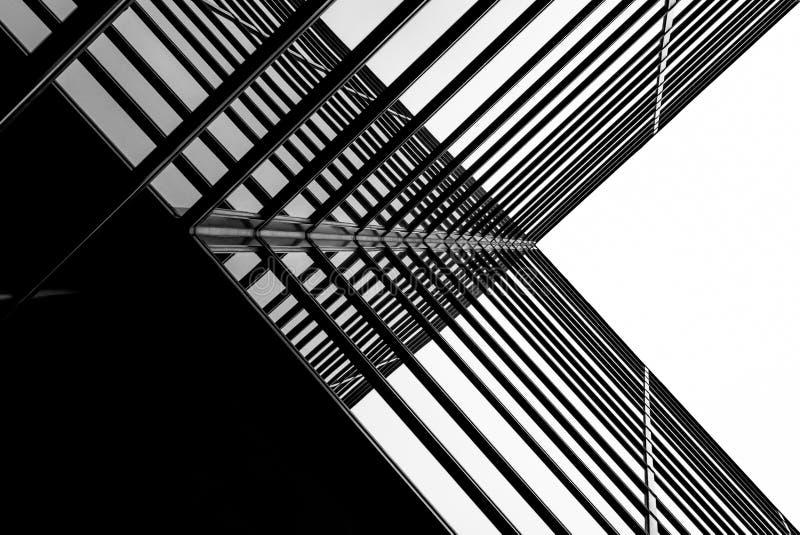 Arquitectura moderna X ilustración del vector
