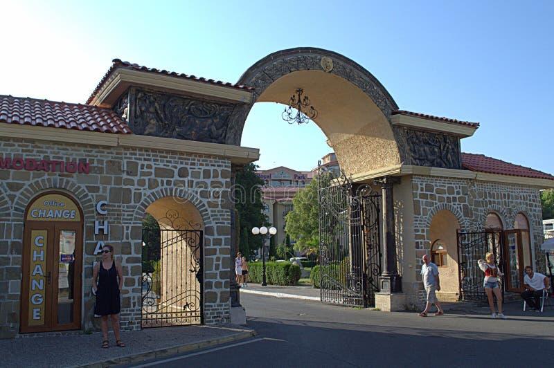 Arquitectura pomposa del centro turístico, Bulgaria imagen de archivo
