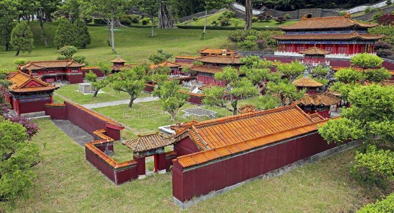 Arquitectura popular de la miniatura del pueblo de China espléndida imagen de archivo
