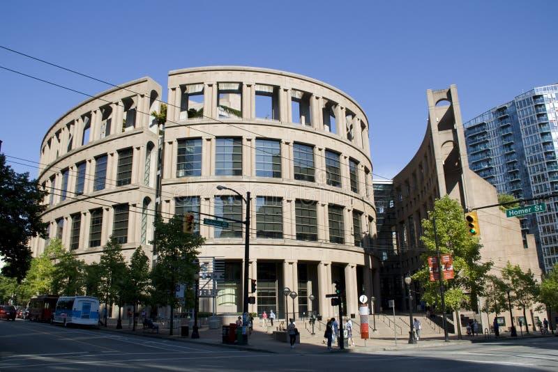 Arquitectura romana y moderna en la biblioteca pública de Vancouver A.C. imagen de archivo libre de regalías