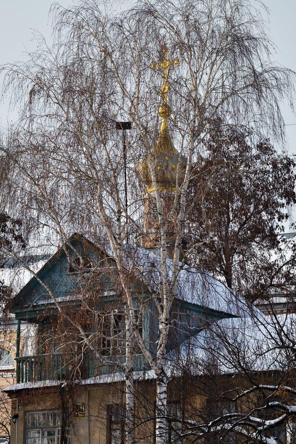 Arquitectura rusa en Voronezh, Rusia imagenes de archivo