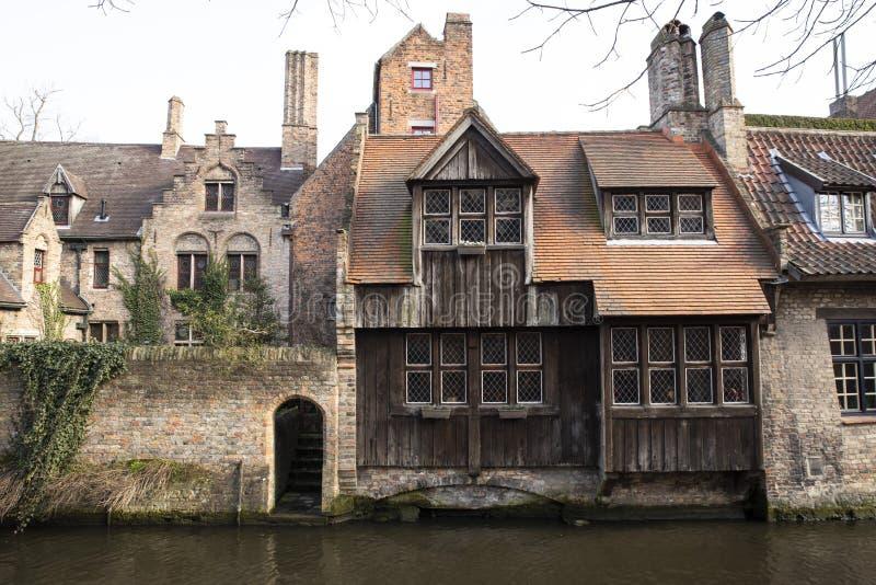 Arquitectura típica de Brujas en Bélgica fotografía de archivo libre de regalías