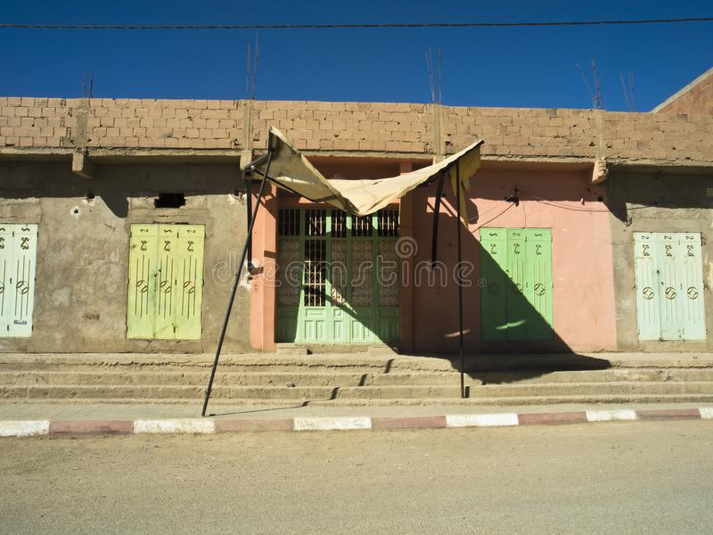 Arquitectura típica en Merzouga fotos de archivo libres de regalías