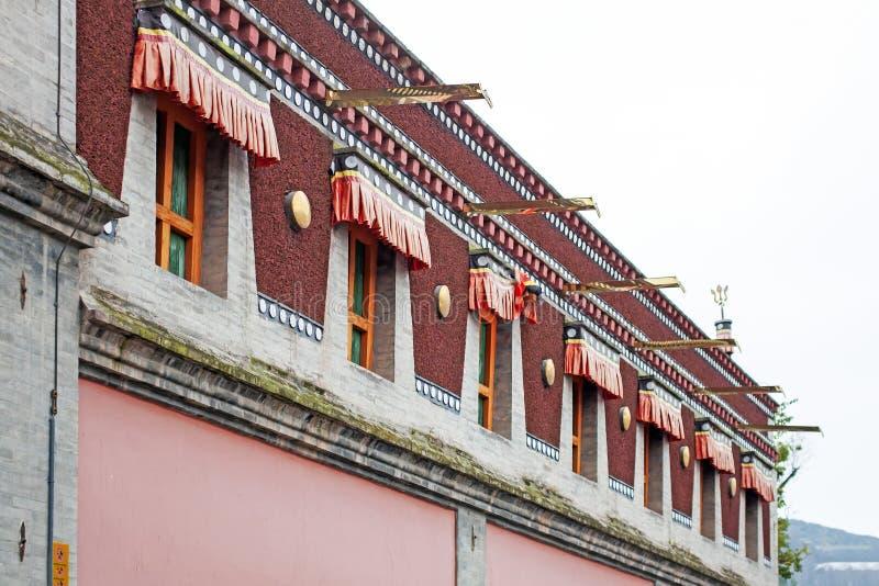 Arquitectura tibetana del edificio budista tradicional fotos de archivo libres de regalías