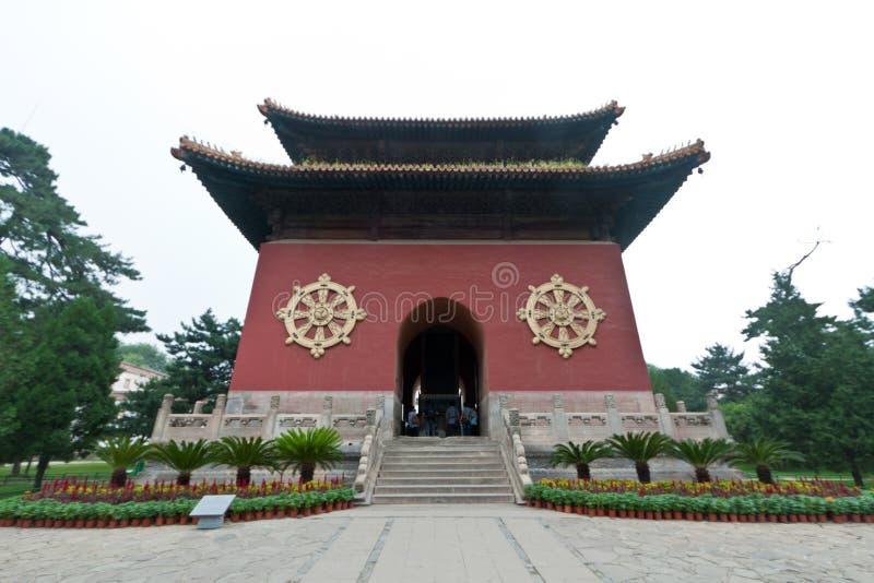 Arquitectura tibetana en el templo de casos, Chengde de Putuo foto de archivo