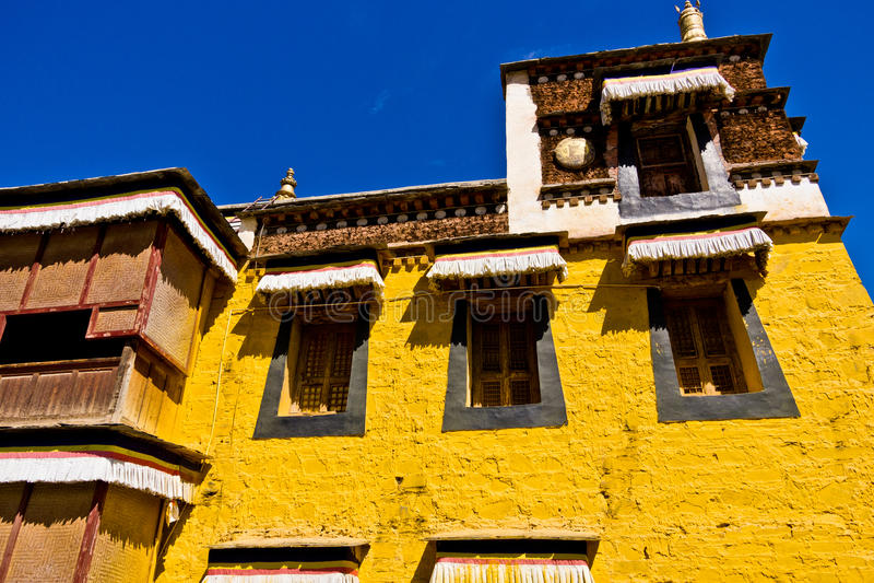 Arquitectura tibetana, Labrang Lamasery fotografía de archivo libre de regalías