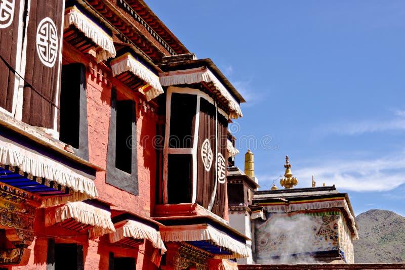 Arquitectura tibetana, Labrang Lamasery fotos de archivo libres de regalías