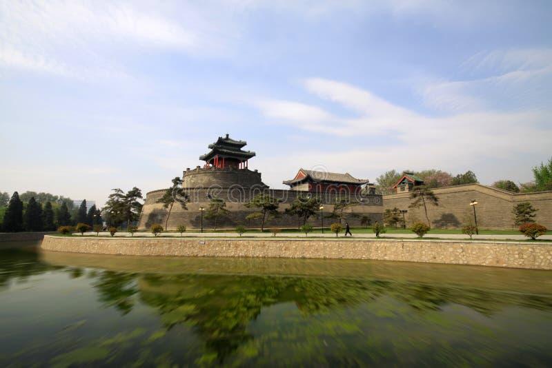 Arquitectura tradicional china antigua foto de archivo
