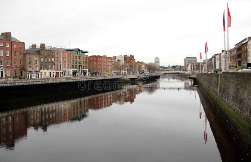 Arquitectura tradicional en Dublín, Irlanda imagen de archivo libre de regalías