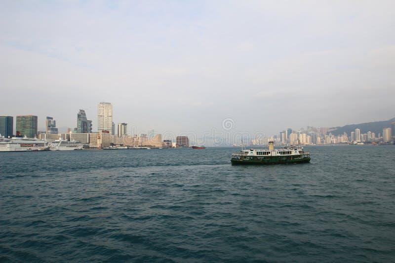 Arquitectura urbana en Hong Kong Victoria Harbor fotografía de archivo libre de regalías