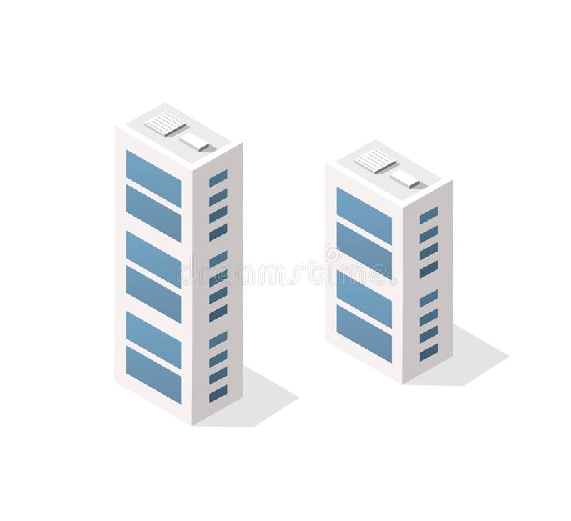 Arquitectura urbana isom?trica del vector libre illustration