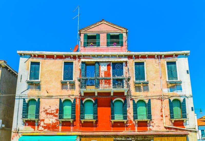 Arquitectura veneciana histórica de la isla de Murano imagen de archivo libre de regalías