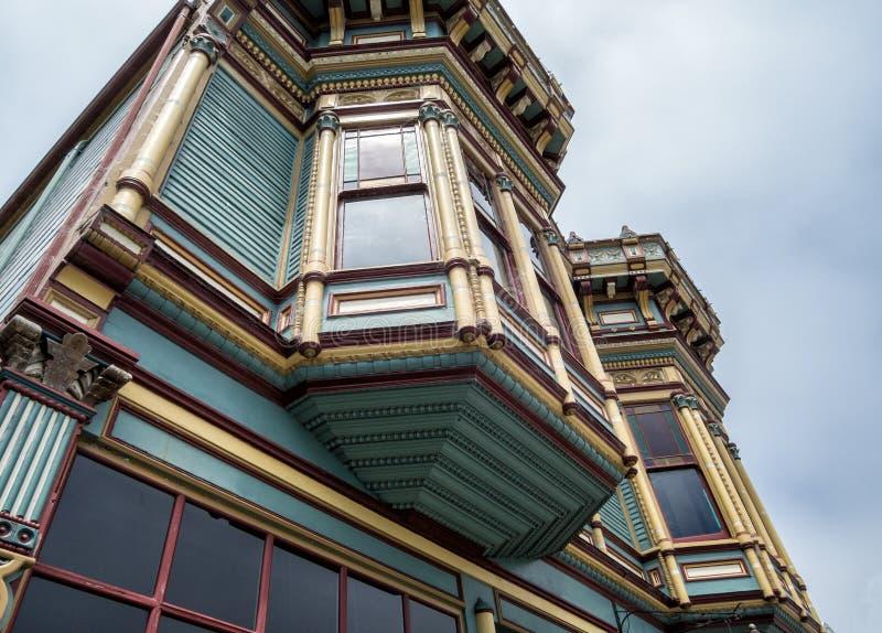 Arquitectura victoriana histórica, Ferndale, California imagen de archivo libre de regalías
