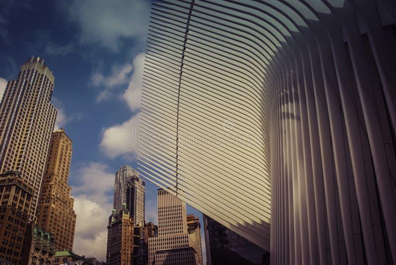 arquitecturas del ¼ Œ NewYorkYork de Oculusï del World Trade Center imagen de archivo libre de regalías