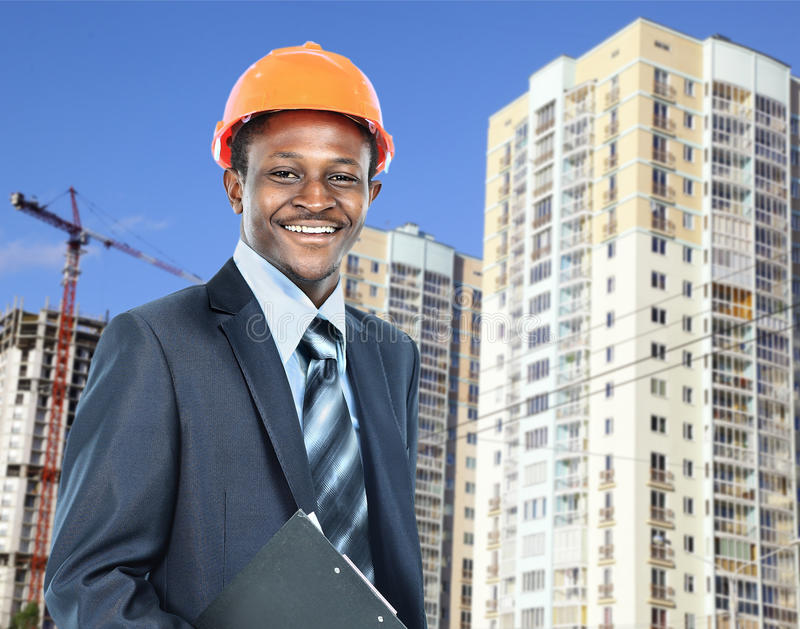 Arquiteto afro-americano do homem novo fotos de stock