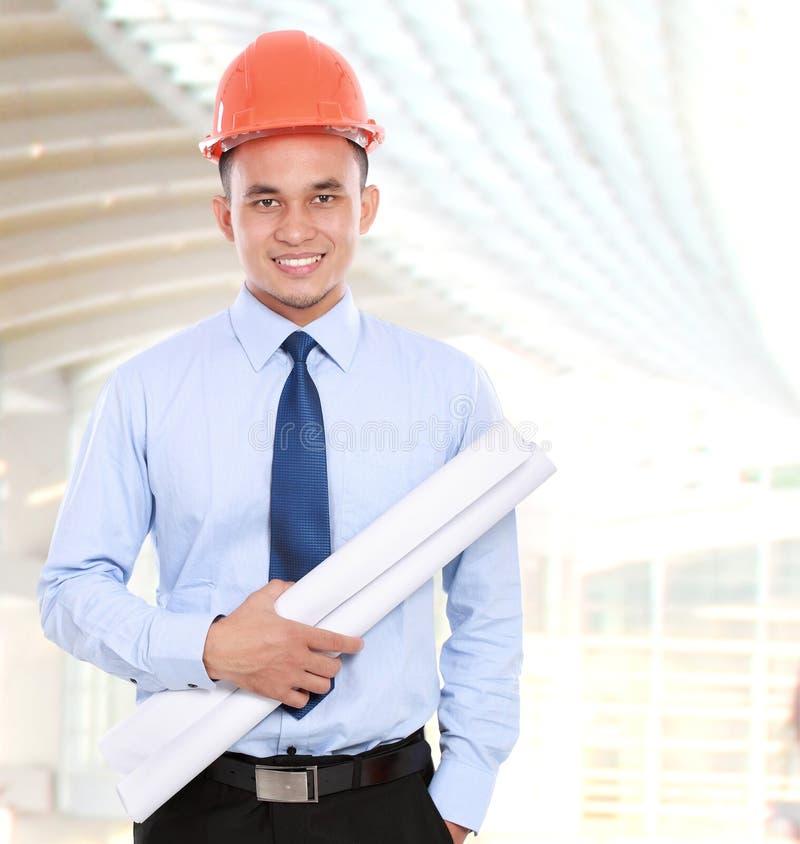 Arquiteto asiático novo do homem imagens de stock
