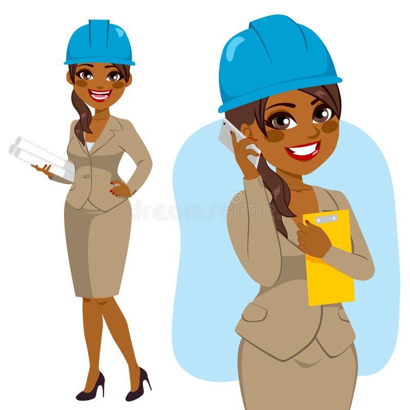 Arquiteto Black Woman ilustração royalty free