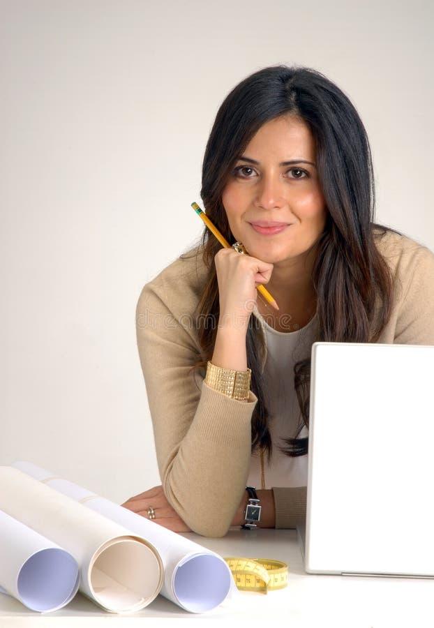 Arquiteto da mulher. imagem de stock
