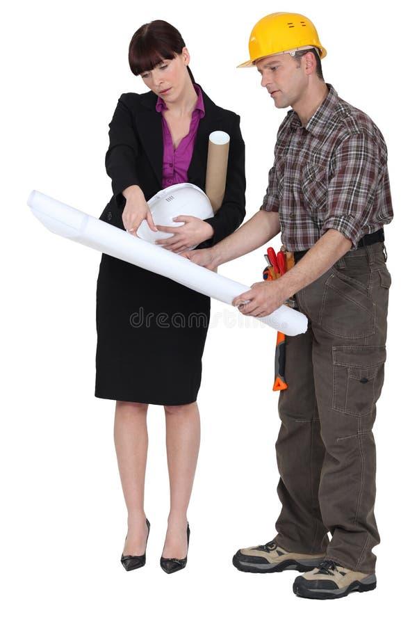 Arquiteto e construtor imagem de stock