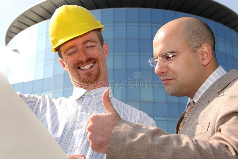Arquiteto e homem de negócios imagem de stock