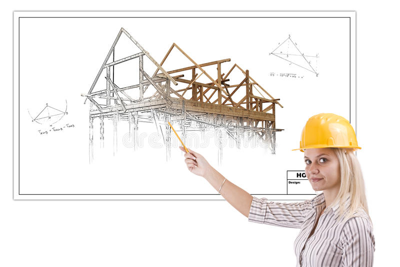 Arquiteto fêmea imagens de stock