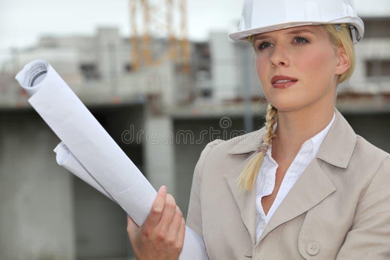 Arquiteto fêmea foto de stock royalty free