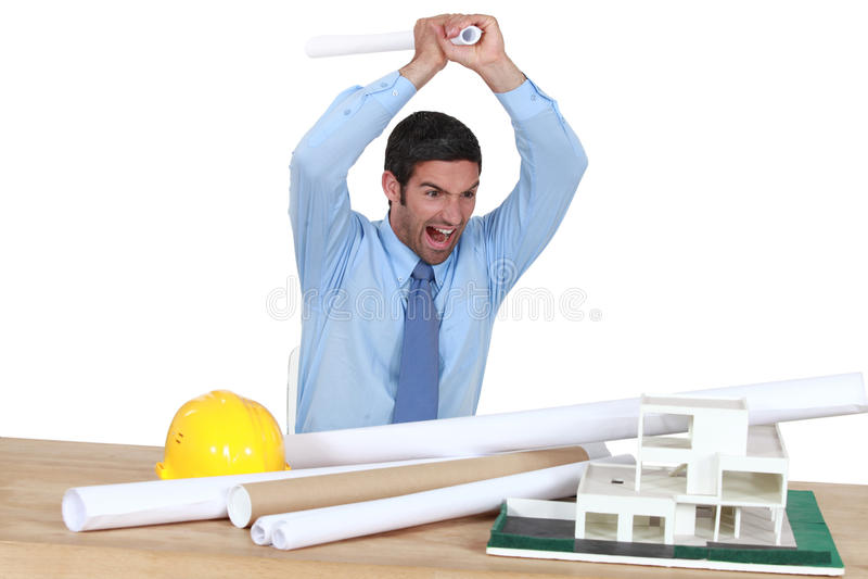 Arquiteto irritado foto de stock royalty free