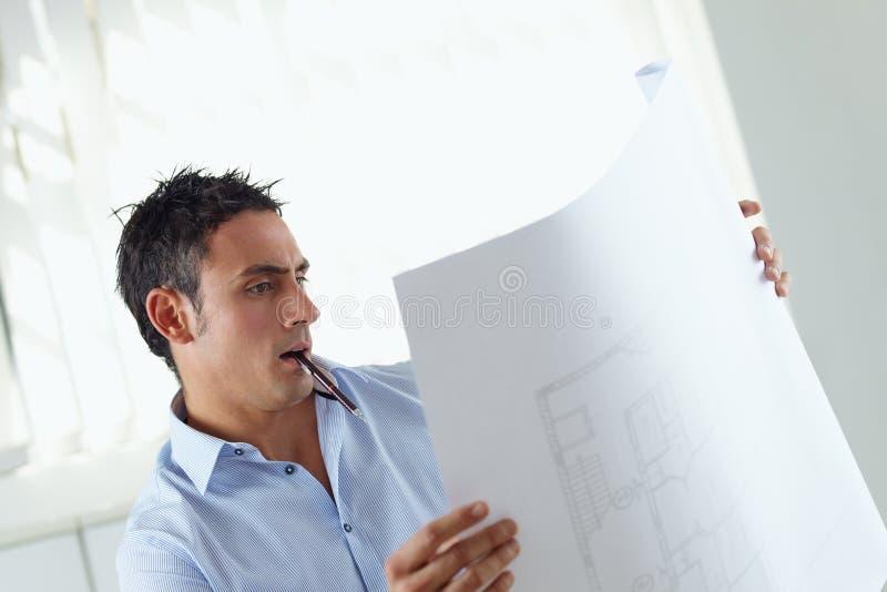 Arquiteto masculino imagem de stock royalty free