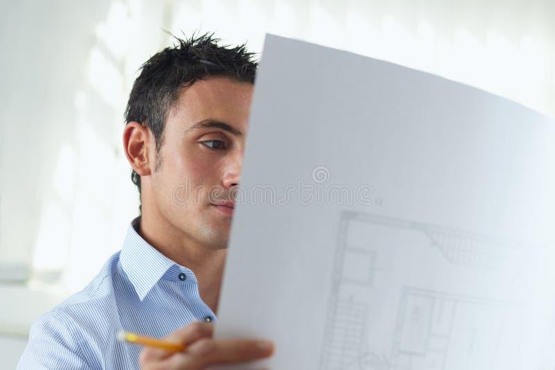 Arquiteto masculino imagem de stock